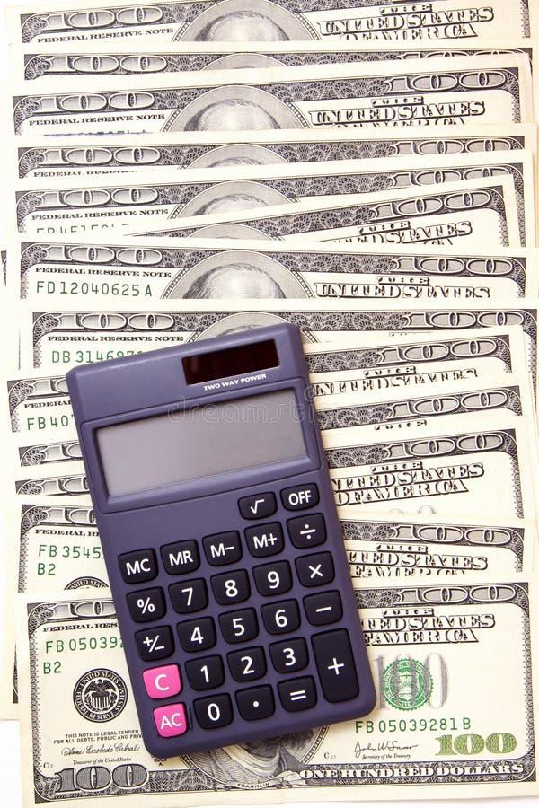Calculs d'argent d'argent comptant image stock