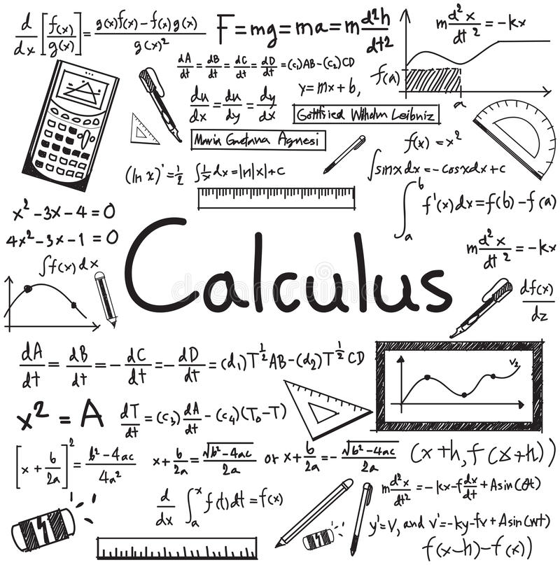 Free Calculus Law Theory And Mathematical Formula Equation Doodle Stock Photos - 68930203