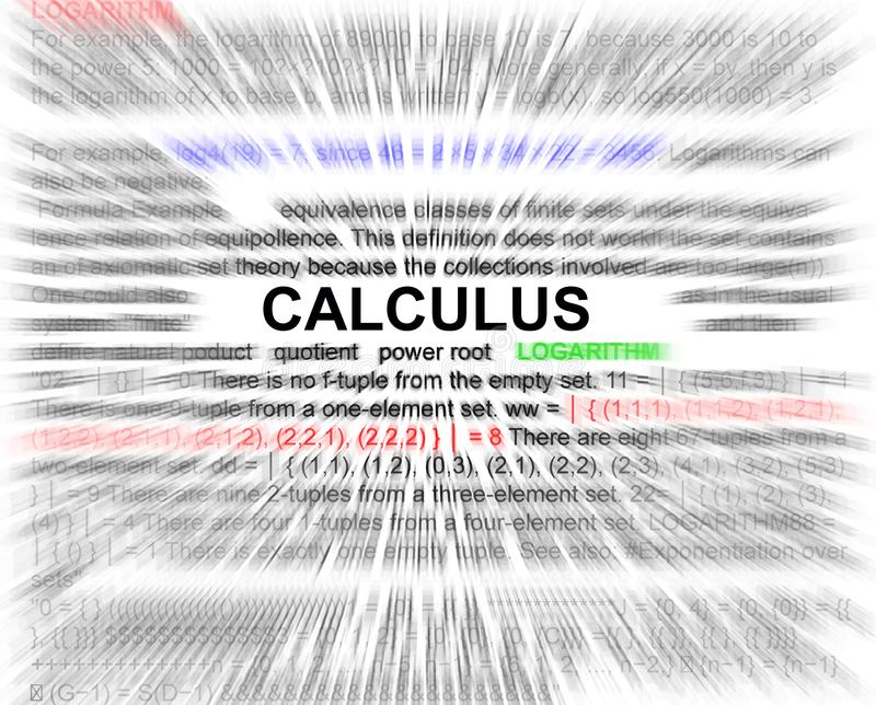 Calculus newtons equation concept. Radial blurr vector illustration