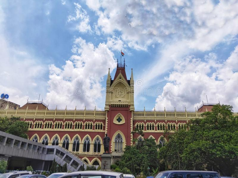 Calcutta sąd najwyższy jest starym sądem najwyższy w India zdjęcie stock