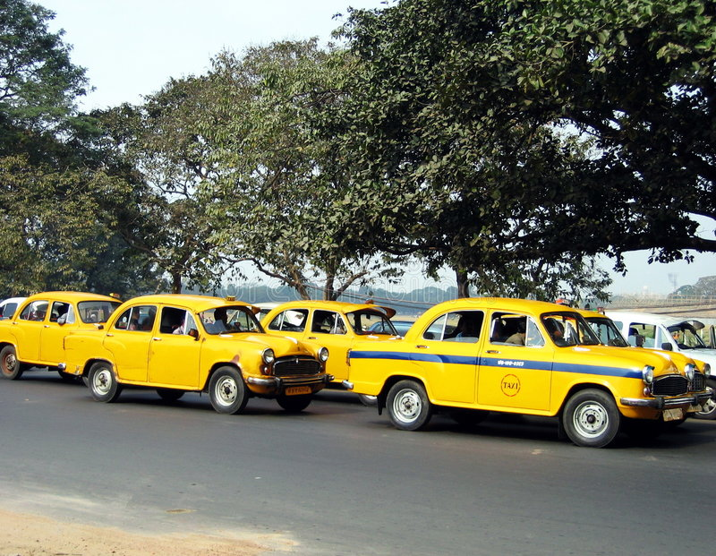Calcutta's taxis royalty free stock image