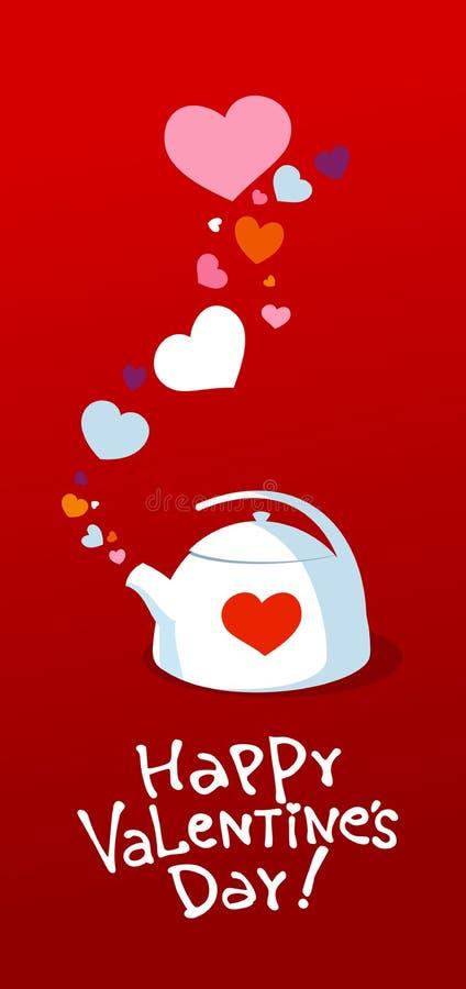 Caldaia del biglietto di S. Valentino. illustrazione vettoriale