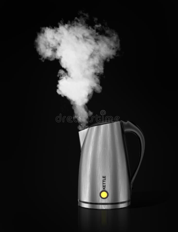Caldaia di tè con acqua di ebollizione illustrazione di stock