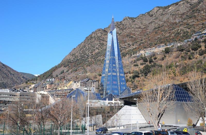 Caldea здоровье и развлекательный центр в Андорре, самый большой термальный центр в Европе стоковое фото