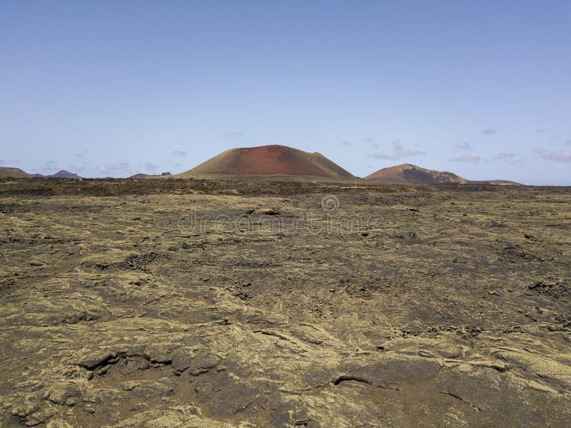 Caldeira Colorada, Lanzarote, Îles Canaries, Espagne, l'Europe de vue aérienne images stock
