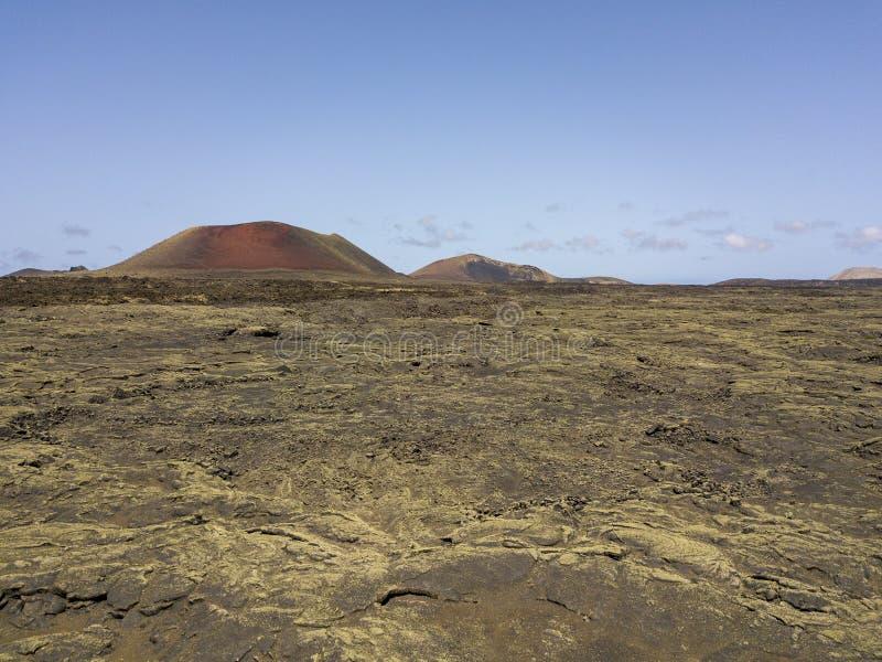 Caldeira Colorada, Lanzarote, Îles Canaries, Espagne, l'Europe de vue aérienne images libres de droits