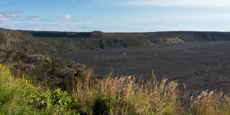 Caldeira de Kilauea images stock