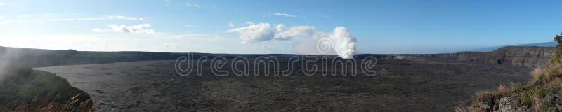 Caldeira de Kilauea images libres de droits