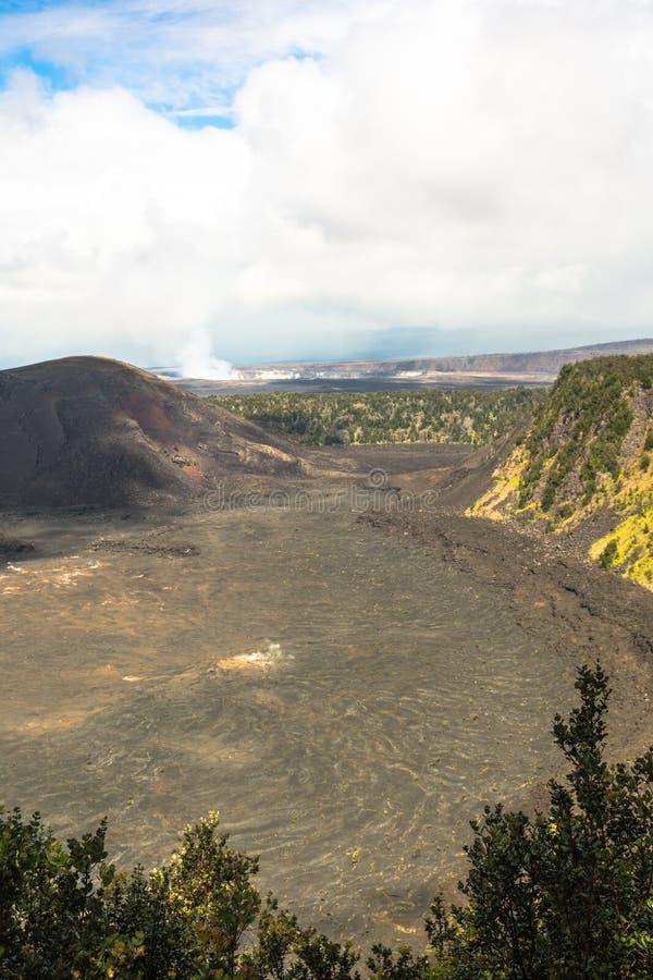 Caldeira de Kilauea en grande île, Hawaï images stock