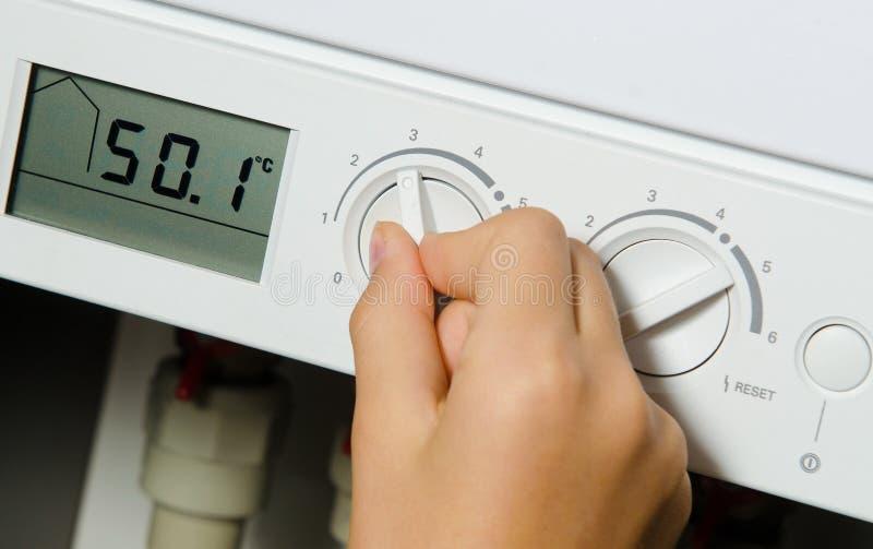 Caldeira do aquecimento da casa. imagens de stock