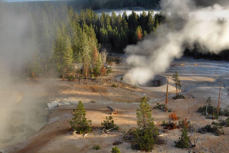 Caldeira do enxôfre, Yellowstone fotografia de stock royalty free