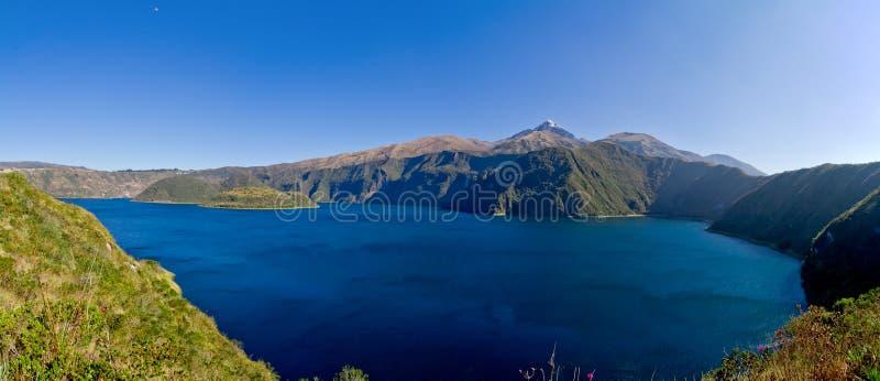 Caldeira et lac de Cuicocha en Equateur Amérique du Sud photos libres de droits