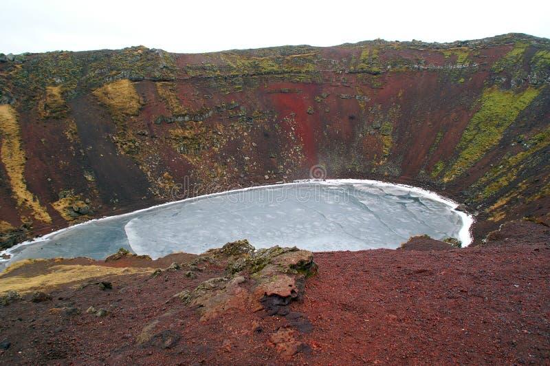 Caldeira volcanique photos stock