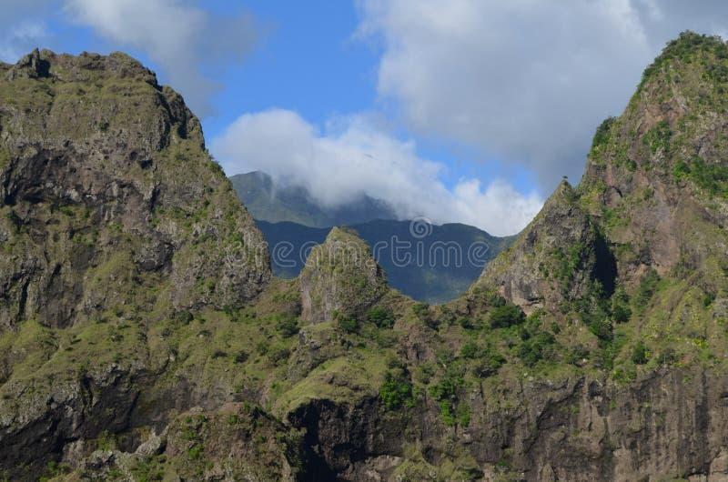 Caldeira volcanique de Mafate en île de Réunion photographie stock libre de droits
