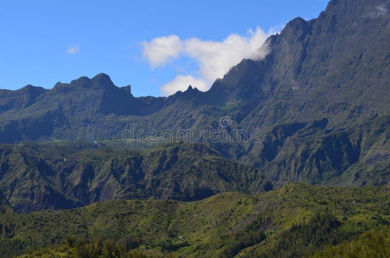 Caldeira volcanique de Mafate en île de Réunion photos stock