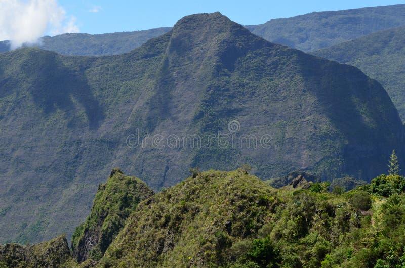 Caldeira volcanique de Mafate en île de Réunion images libres de droits
