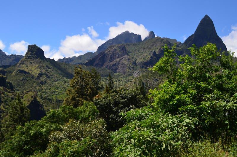 Caldeira volcanique de Mafate en île de Réunion photo libre de droits