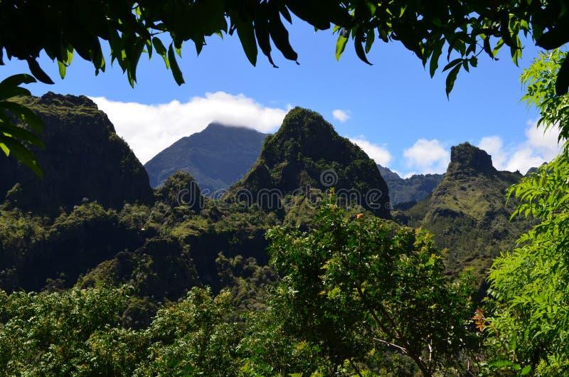 Caldeira volcanique de Mafate en île de Réunion image stock