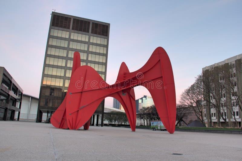 Calder rzeźba w Uroczystych gwałtownych zdjęcie royalty free