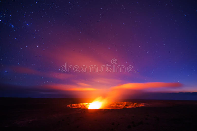 Caldera ηφαιστείων Kilauea στοκ εικόνες