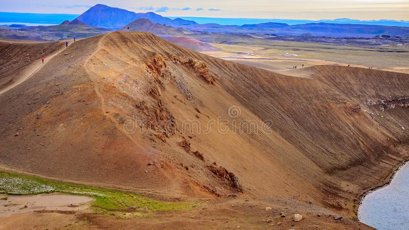 Caldera του ηφαιστείου Krafla στοκ εικόνα με δικαίωμα ελεύθερης χρήσης