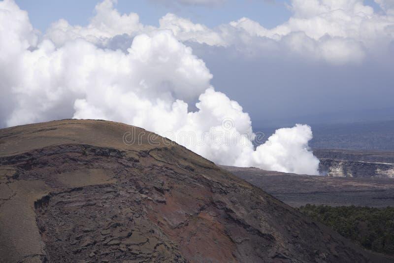 Caldera 9705 de Kilauea fotos de stock