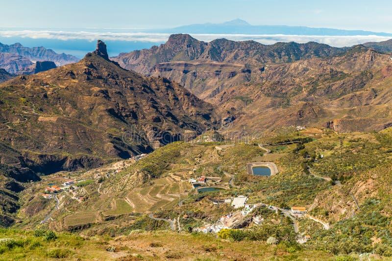 Caldera av Tejeda - Gran Canaria, Spanien arkivbilder