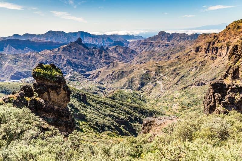 Caldera av Tejeda - Gran Canaria, Spanien royaltyfri foto