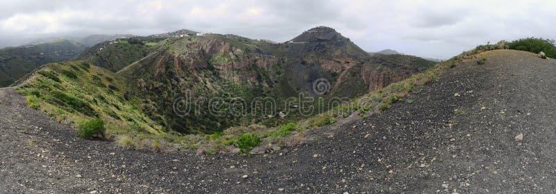 Caldera de Bandama - cratere vulcanico in isola di Gran Canaria fotografia stock libera da diritti