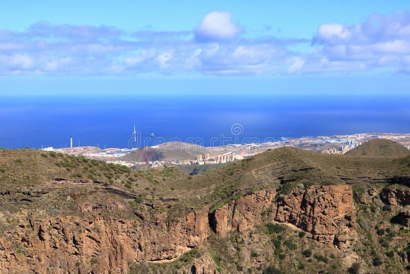 Caldera de Bandama - ett ställe, var van vid, är en vulkanisk krater i Gran Canaria royaltyfria foton