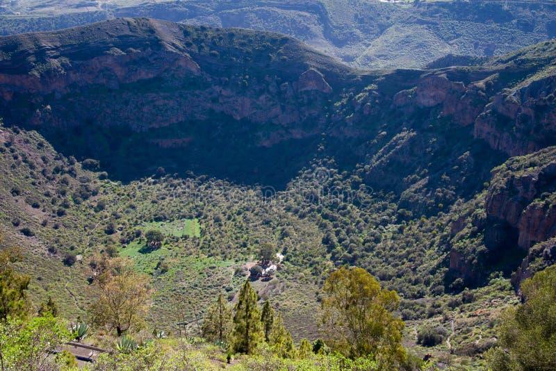 Caldera DE Bandama, Gran Canaria royalty-vrije stock afbeelding