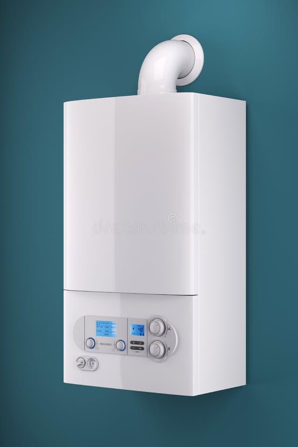 Caldera de gas del hogar stock de ilustración