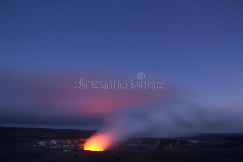 Caldera de Kilauea foto de archivo libre de regalías