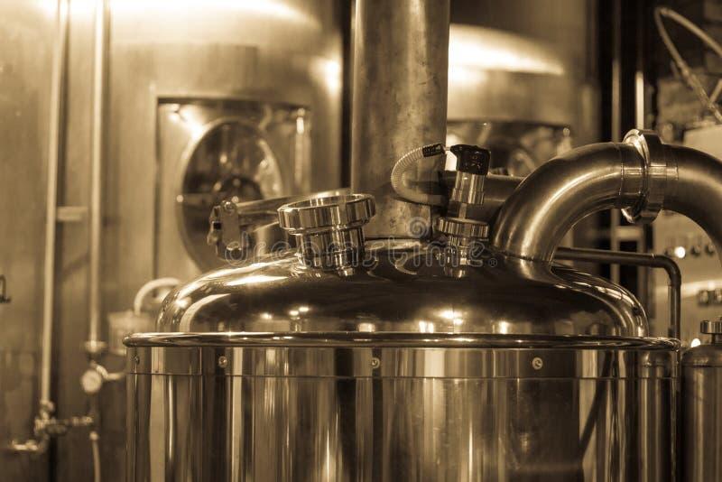 Caldera de la cervecería de la cerveza fotografía de archivo libre de regalías