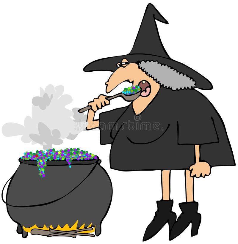 Caldera de las brujas stock de ilustración