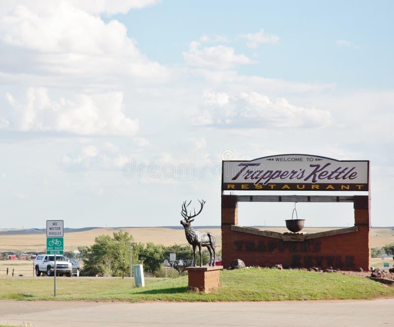 Caldera de los tramperos de Dakota del Norte foto de archivo libre de regalías