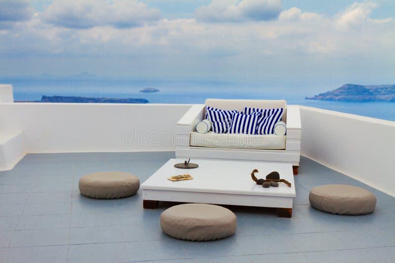 Caldera de Santorini, Grecia imagen de archivo