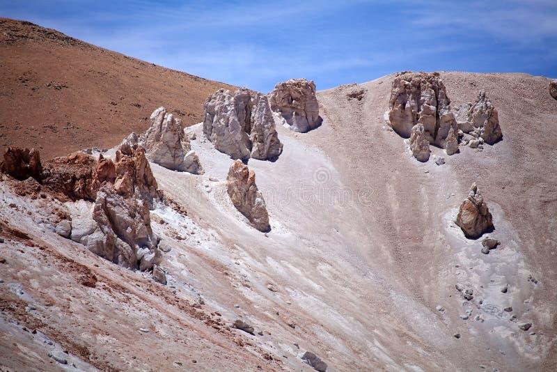 Caldera in der Puna de Atacama, Argentinien stockbilder