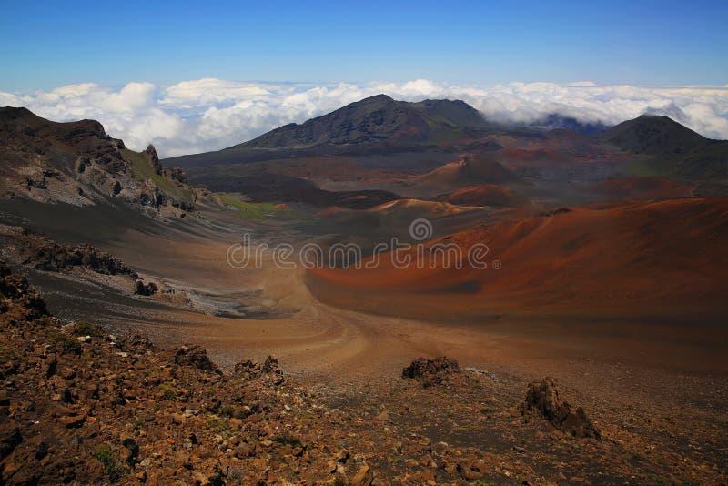 Caldera di Haleakala fotografie stock libere da diritti