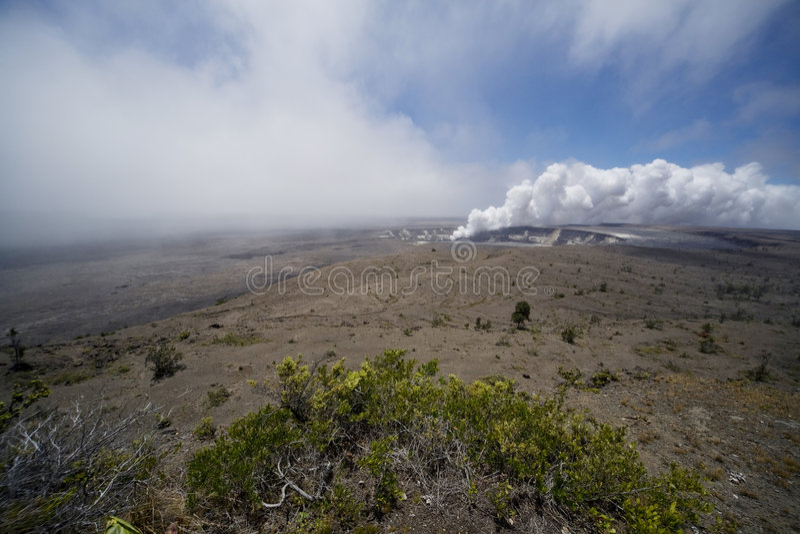 Caldera di Kilauea   immagini stock libere da diritti