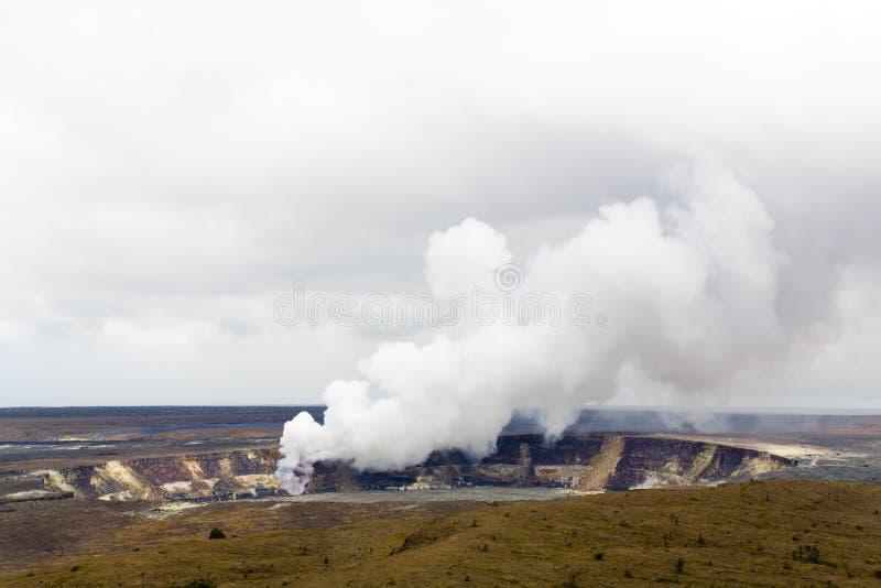 Caldera di Kilauea, Kona, HI immagine stock