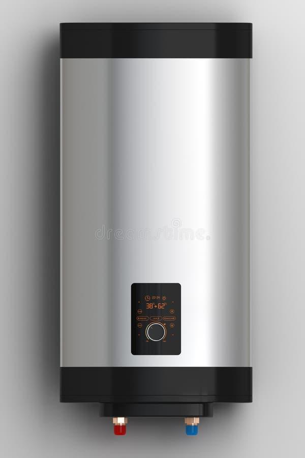 Caldera eléctrica de la calefacción con control elegante stock de ilustración