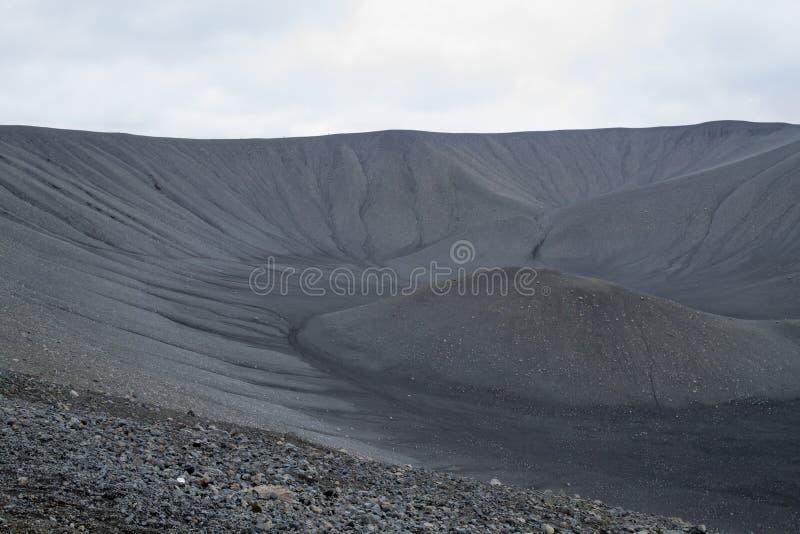 Caldera Hverfell τοπ άποψη ηφαιστείων, ορόσημο της Ισλανδίας στοκ φωτογραφία