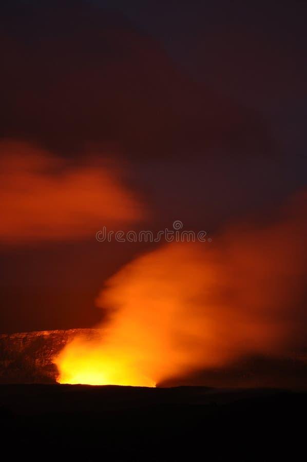 Caldera Kilauea, μεγάλο νησί, Χαβάη στοκ εικόνες με δικαίωμα ελεύθερης χρήσης