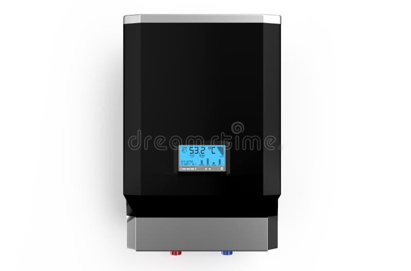 Caldera negra eléctrica, calentador de agua foto de archivo