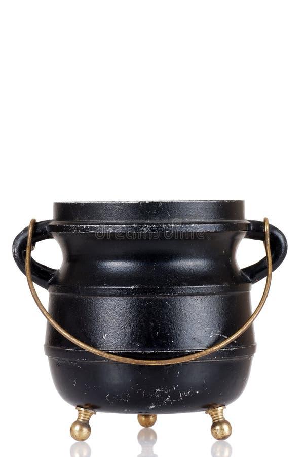 Caldera negra vieja imagen de archivo libre de regalías
