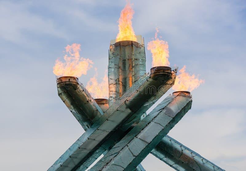 Caldera olímpica imágenes de archivo libres de regalías