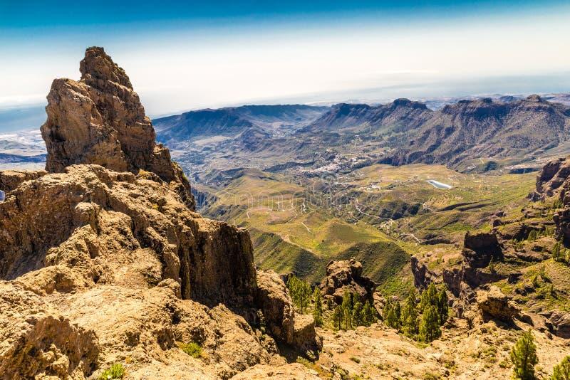 Caldera van Tejeda - Gran Canaria, Spanje stock fotografie
