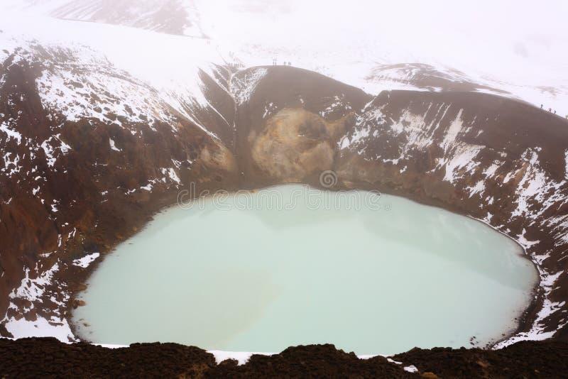 Caldera Viti σε Askja, κεντρικό ορόσημο της Ισλανδίας στοκ φωτογραφίες με δικαίωμα ελεύθερης χρήσης