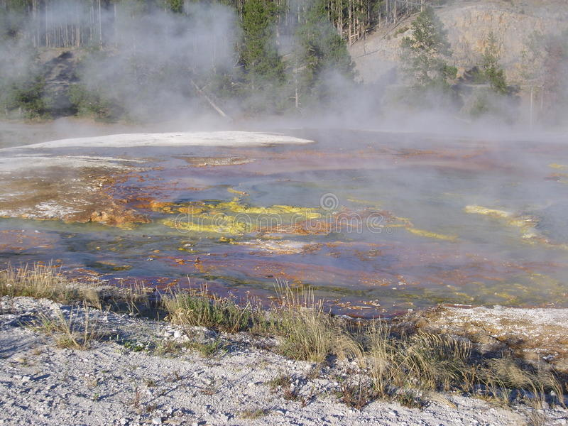 Caldera in Yellowstone stock image